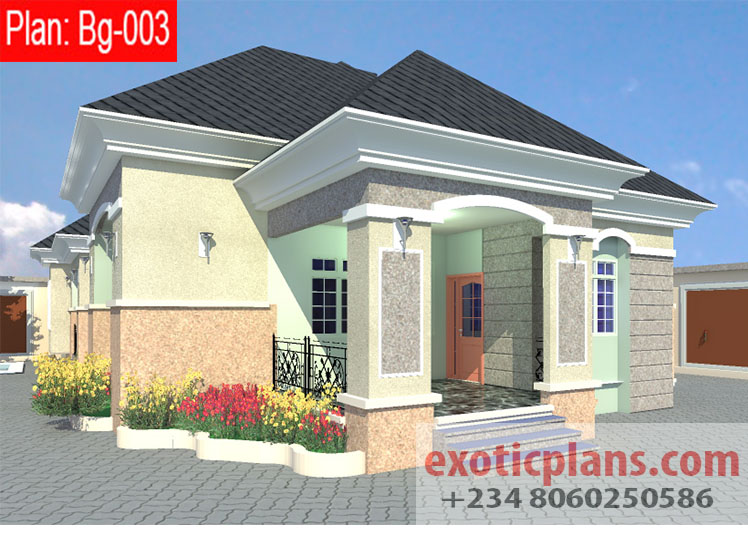 4 bedrooms bungalow bg 003 for Four bedroom bungalow