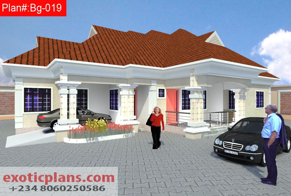 5 bedrooms bungalow bg 019 for 5 bedroom bungalow designs