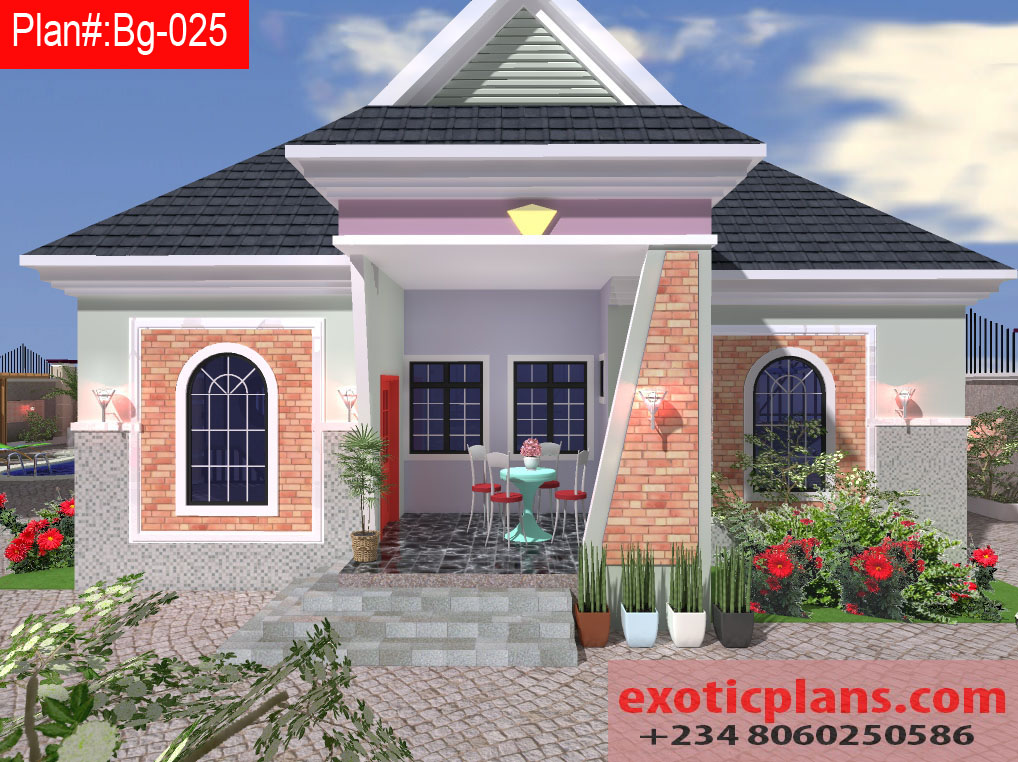 4 Bedrooms Bungalow Plan Designs Building Plans Drawings