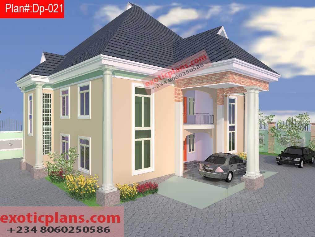 4 bedrooms duplex 021 for Duplex bungalow design