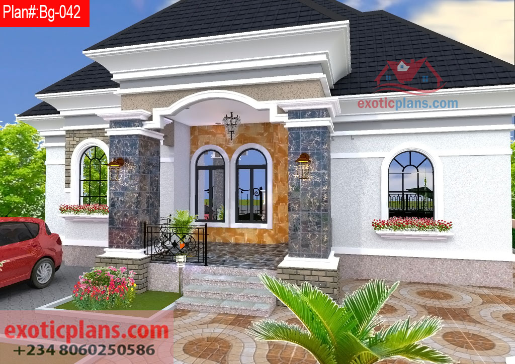 4 bedrooms bungalow bg 042 - Exterior painting ideas in nigeria ...