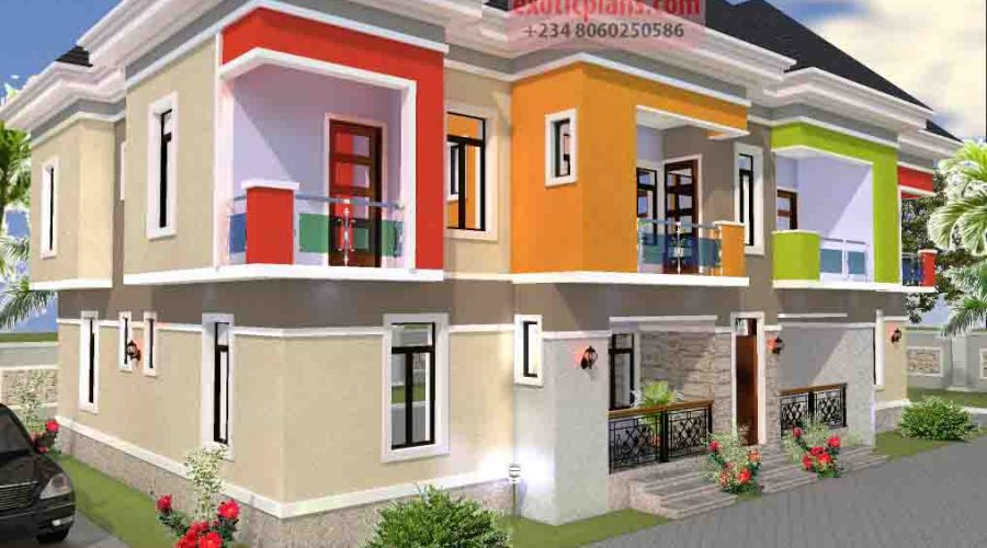 3 Bedroom House Plans 4 Bedrooms Bungalows Duplex 2 Flats 4 Flats