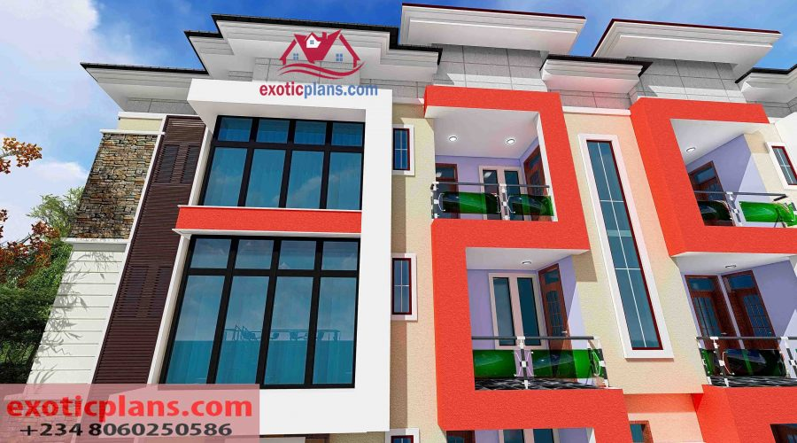 3 Bedroom House Plans 4 Bedrooms Bungalows Duplex 2 Flats 4 Flats